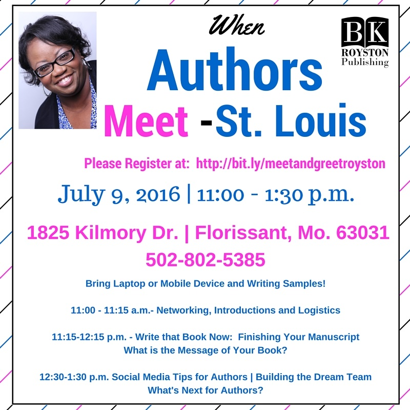 When Authors Meet! Save the Date for When Authors Meet in St. Louis!